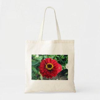 Saco vermelho da flor bolsa tote
