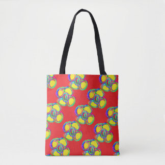 saco vermelho da flor bolsas tote