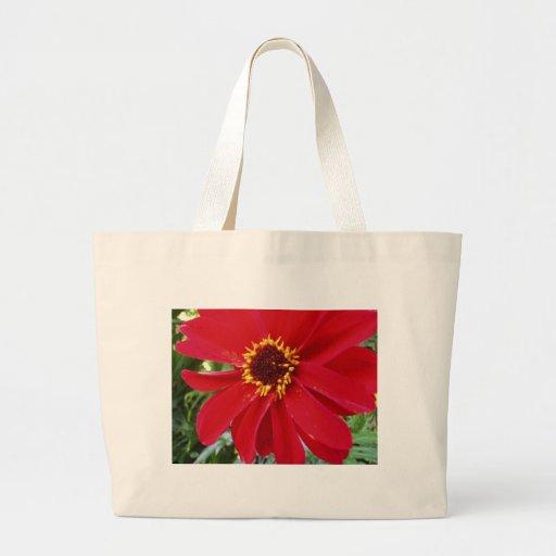 Saco vermelho da flor bolsa para compra