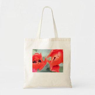 Saco vermelho da tulipa bolsa tote