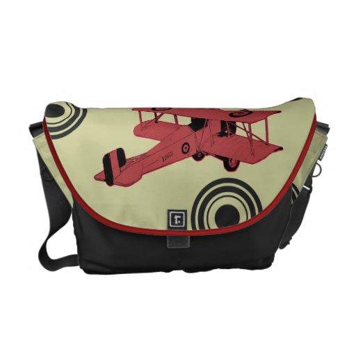 saco vermelho do aviador do biplano bolsa mensageiro