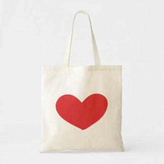 saco vermelho do coração sacola tote budget