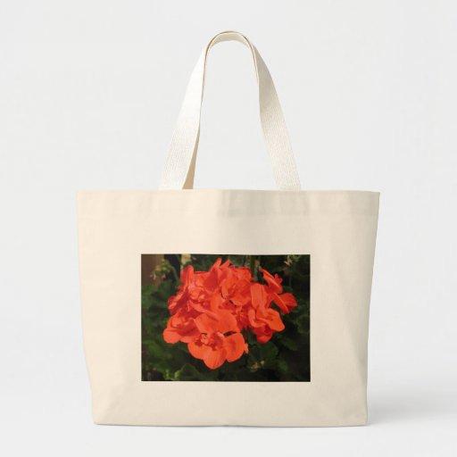 saco vermelho do gerânio bolsa de lona