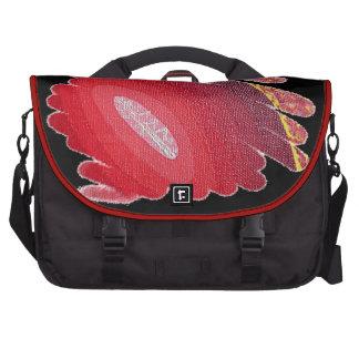 Saco vermelho do laptop das espirais da arte da maletas para laptop