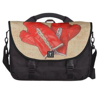Saco vermelho do laptop do lutador das luvas de en bolsas para notebook