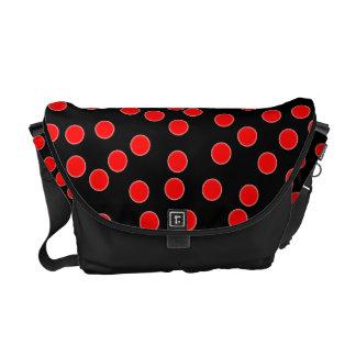 Saco vermelho do mensageiro das bolinhas bolsas mensageiro