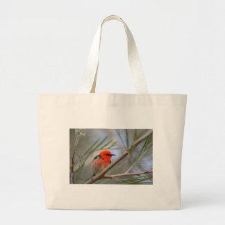 Saco vermelho do pássaro sacola tote jumbo