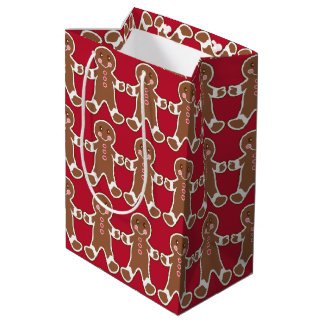 Saco vermelho do presente dos homens de sacola para presentes média