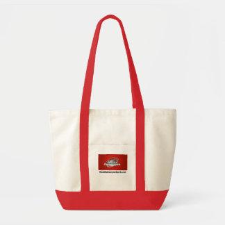 Saco vermelho do punho bolsa tote