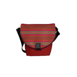 Saco vermelho do teste padrão bolsas mensageiro