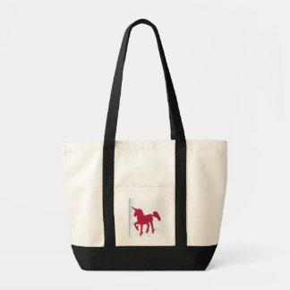 saco vermelho do unicórnio bolsa tote