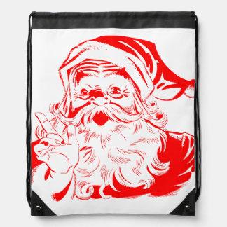 Saco vermelho e branco de Papai Noel