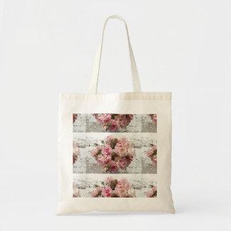 Sacola com flores bolsa tote