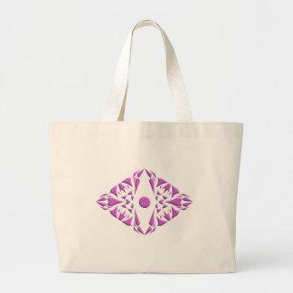 Sacola com teste padrão cor-de-rosa sacola tote jumbo