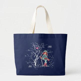 Sacola conhecida do presente do Natal da menina Sacola Tote Jumbo