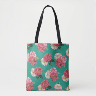 sacola cor-de-rosa bonita colorida da flor bolsas tote