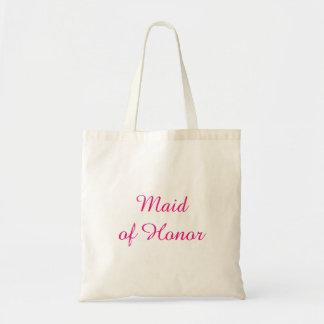 Sacola cor-de-rosa da madrinha de casamento bolsa tote
