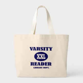 Sacola da biblioteca do leitor XXL do time do Sacola Tote Jumbo