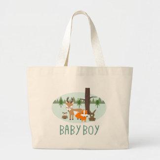 Sacola da floresta do bebé bolsa tote grande