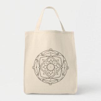 Sacola da mandala de Lotus a colorir Bolsa Tote