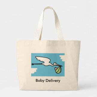 Sacola de Delivey do bebê (customizável) Bolsa Tote Grande