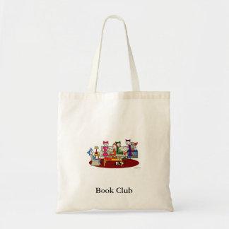 Sacola do clube de leitura sacola tote budget