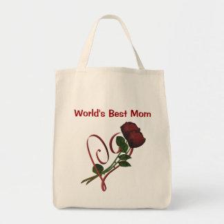 Sacola do coração das rosas vermelhas da mamã dos  bolsas