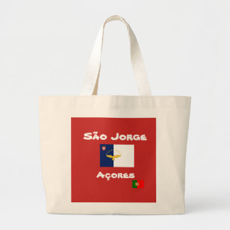 Sacola do costume de Jorge Açores do Sao Bolsa Tote Grande