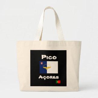 Sacola do costume de Pico Açores Bolsa Tote Grande