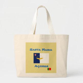 Sacola do costume de Santa Maria Açores Bolsa Tote Grande