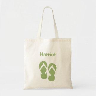Sacola do costume do verde do verão do falhanço de bolsa para compras