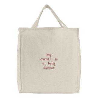 sacola do dançarino de barriga bolsa tote bordada