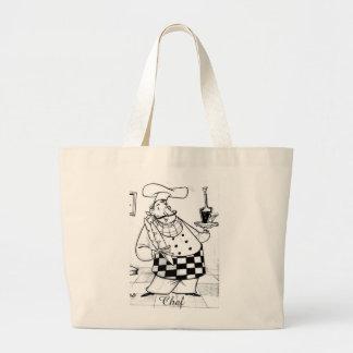 sacola do design do cozinheiro chefe bolsa tote grande