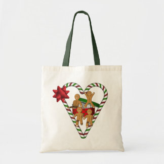 Sacola do feriado do Natal dos homens de pão-de-es Bolsas De Lona