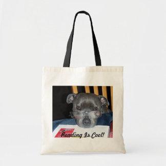 Sacola do filhote de cachorro da leitura bolsas para compras