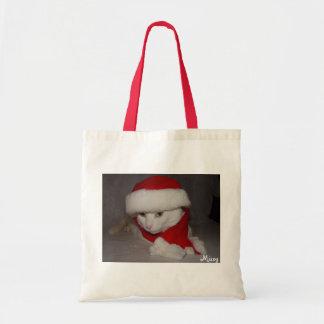 Sacola do gatinho do Natal Sacola Tote Budget