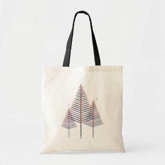 Sacola do pinheiro bolsa tote
