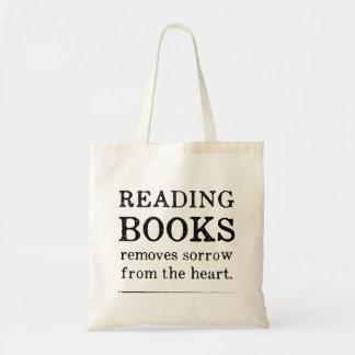 Sacola dos livros de leitura bolsa tote