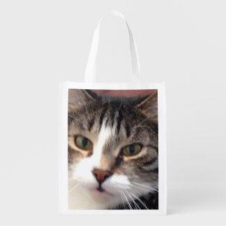Sacola Ecológica A bolsa de compra reusável do gato