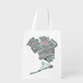 Sacola Ecológica A bolsa de compra reusável tipográfica do Queens