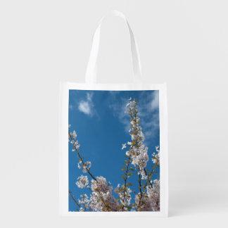 Sacola Ecológica Alegria da vida! Ramos da flor de cerejeira do