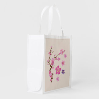 Sacola Ecológica Arte da flor de cerejeira