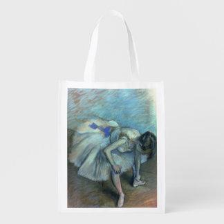 Sacola Ecológica Dançarino assentado | de Edgar Degas, c.1881-83