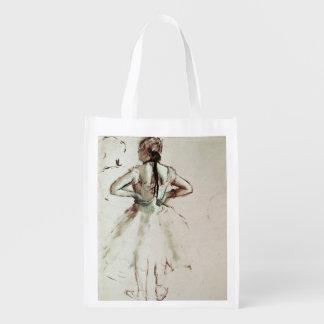 Sacola Ecológica Dançarino de Edgar Degas | visto da parte traseira