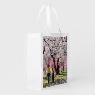 Sacola Ecológica Dia de primavera bonito para uma caminhada
