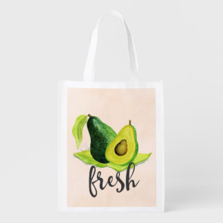 Sacola Ecológica Do abacate fruta verde fresca da vida ainda na