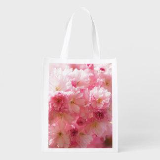 Sacola Ecológica Estilo cor-de-rosa da flor de cerejeira