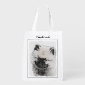Sacola Ecológica Filhote de cachorro do Keeshond (desenho)