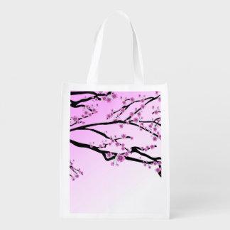 Sacola Ecológica Flor roxa Sakura da cereja
