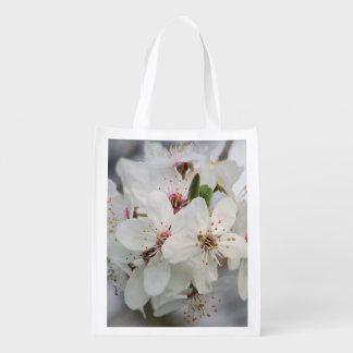Sacola Ecológica Flores brancas da cereja